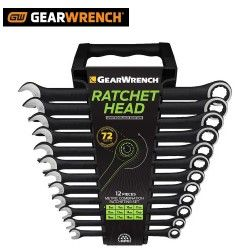 Gear Wrench 12 Piece Combination Ratchet Spanner Set