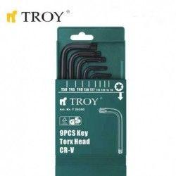 Комплект Торкс ключове Torx  / TROY 26200 /