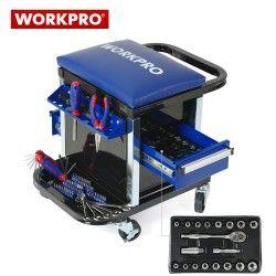 Сервизен стол - количка с инструменти 136 части / Workpro W009039 / 3