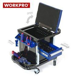 Сервизен стол - количка с инструменти 136 части / Workpro W009039 / 2