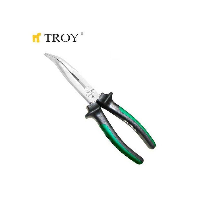 Телефонни клещи с извити човки, 180 мм / Troy 21038 /