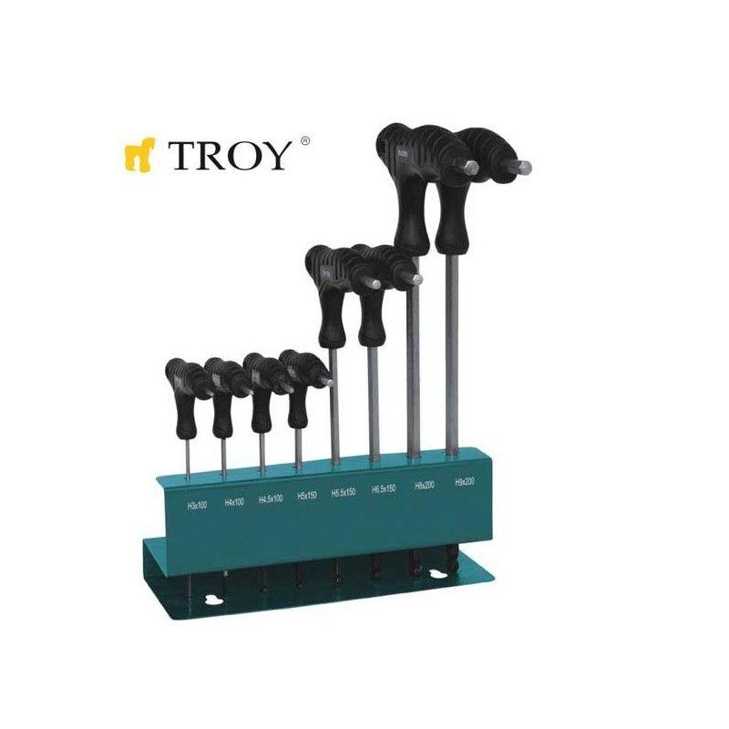 TROY 22308 Allen Anahtar Seti  T-Saplı