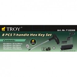 Hex Key Set T-handle / TROY 22308 / 2