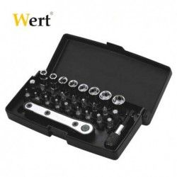 Bits and Socket Set 28 Pcs  / WERT 2239 / 1