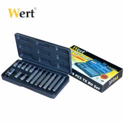 Комплект специални накрайници тип торкс, 15 броя  / WERT 2243 / 1