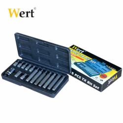 Torx Bits Set 15 Pcs  / WERT 2243 / 1