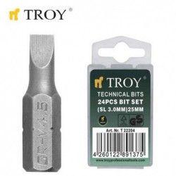TROY 22204 Bits Uç Seti Düz...
