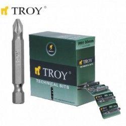 Комплект битове PH-2 50мм  / TROY 22256 / 2