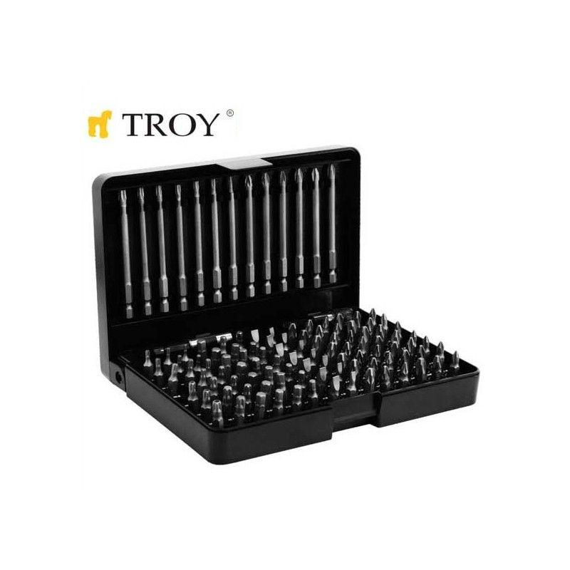 Комплект битове 113 части  / TROY  22301 /
