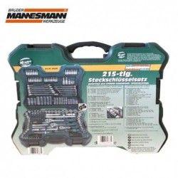 Комплект тресчотки с вложки и ключове- 215 части , с 10 години гаранция / Mannesmann / 1