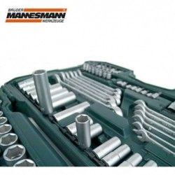 Комплект тресчотки с вложки и ключове- 215 части , с 10 години гаранция / Mannesmann 98430 / 3