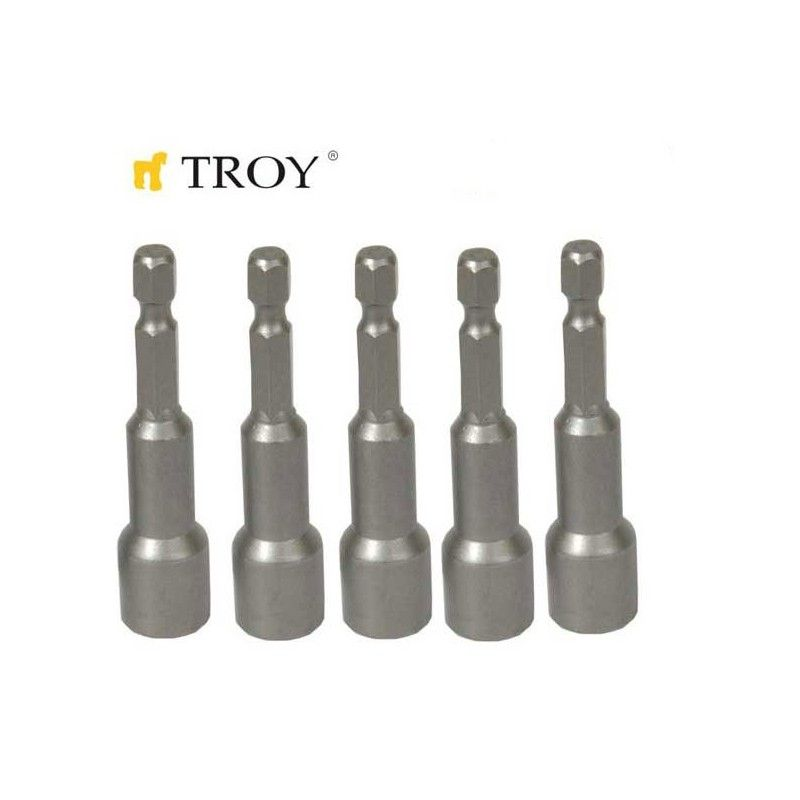 Magnetic Power Nut  8x65mm  / TROY 22291 /