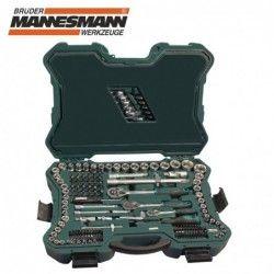 Комплект тресчотки с вложки и ключове- 215 части , с 10 години гаранция / Mannesmann 98430 / 7