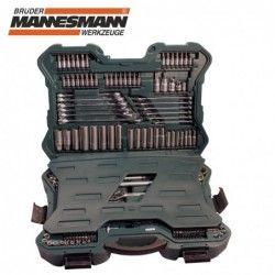Комплект тресчотки с вложки и ключове- 215 части , с 10 години гаранция / Mannesmann 98430 / 8