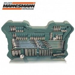 Комплект тресчотки с вложки и ключове- 215 части , с 10 години гаранция / Mannesmann 98430 / 9