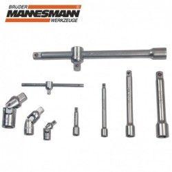 Комплект тресчотки с вложки и ключове- 215 части , с 10 години гаранция / Mannesmann 98430 / 17