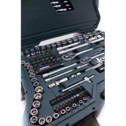 Комплект тресчотки с вложки и ключове- 215 части , с 10 години гаранция / Mannesmann 98430 / 19