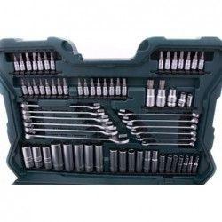 Комплект тресчотки с вложки и ключове- 215 части , с 10 години гаранция / Mannesmann 98430 / 22