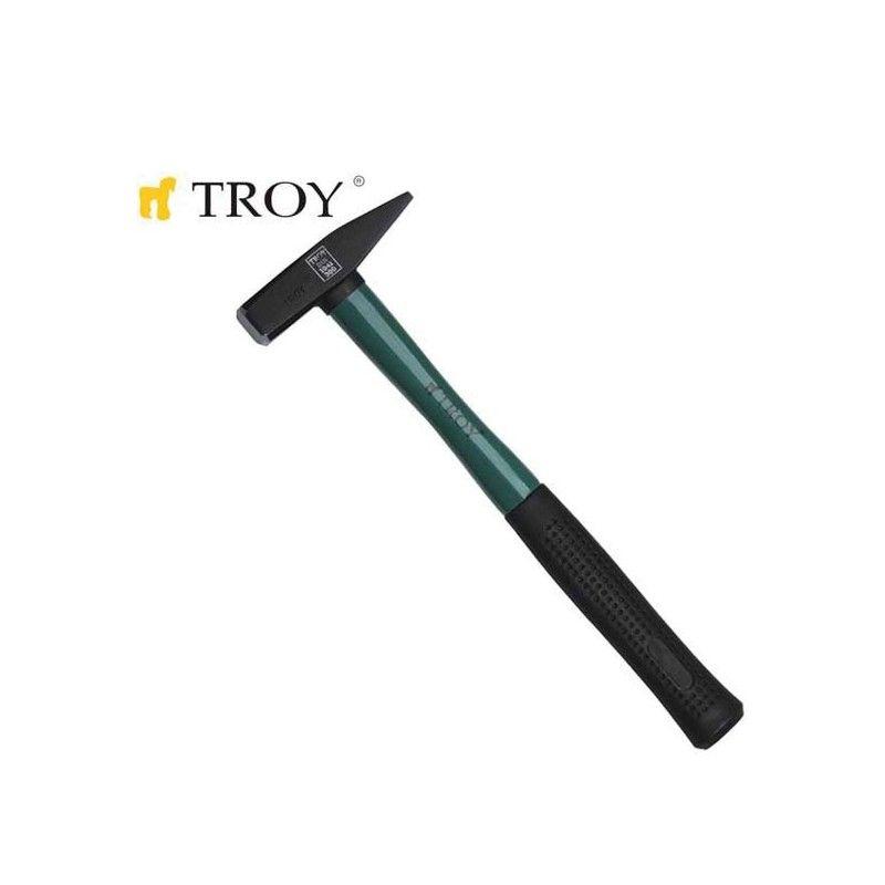 Шлосерски чук с ръкохватка от фибростъкло 300gr  / TROY 27233 /
