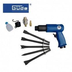 Pneumatic chisel hammer set 9 pcs. / GUDE 40065 /