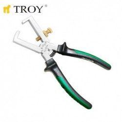 Клещи за оголване на кабел 160 мм / TROY 21014 / 2
