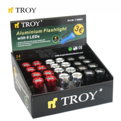 Aluminium Flashlight 24 Pcs in Display Box / Troy 28091 /