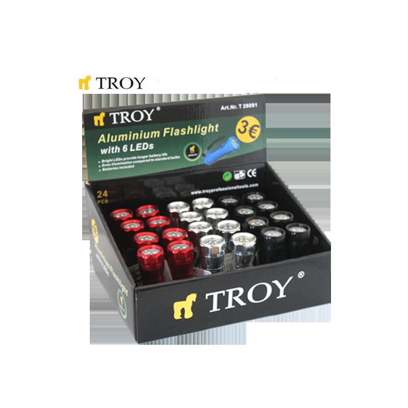 Ръчен фенер с Алуминиево тяло / Troy 28091 /