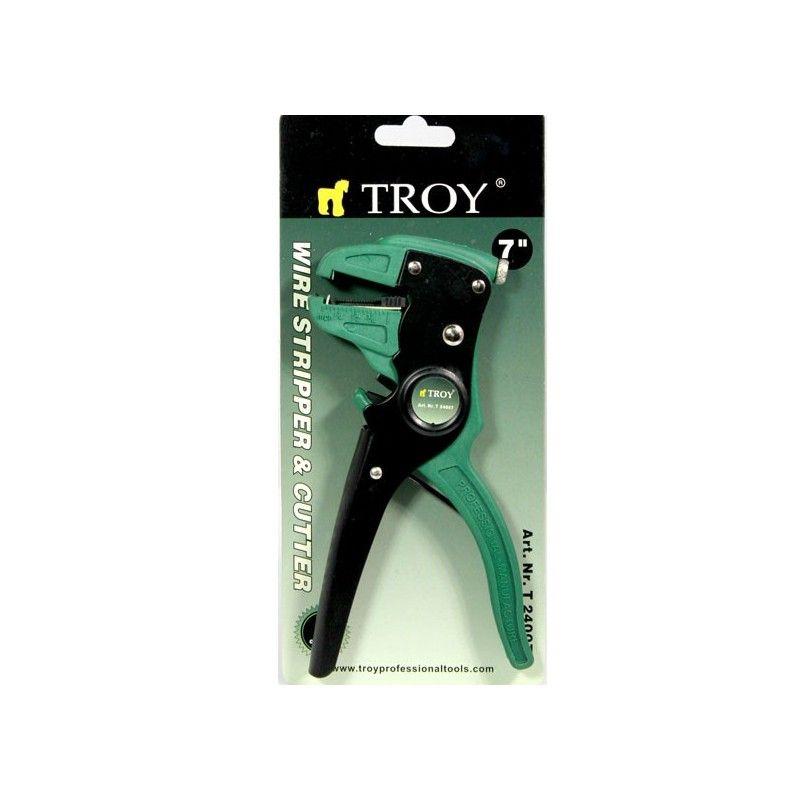 Автоматични клещи за оголване на кабели / TROY 24007 /