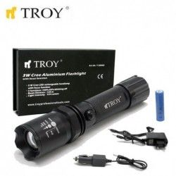 Rechargeable Flashlight 3W - CREE LED / Troy 28085 /