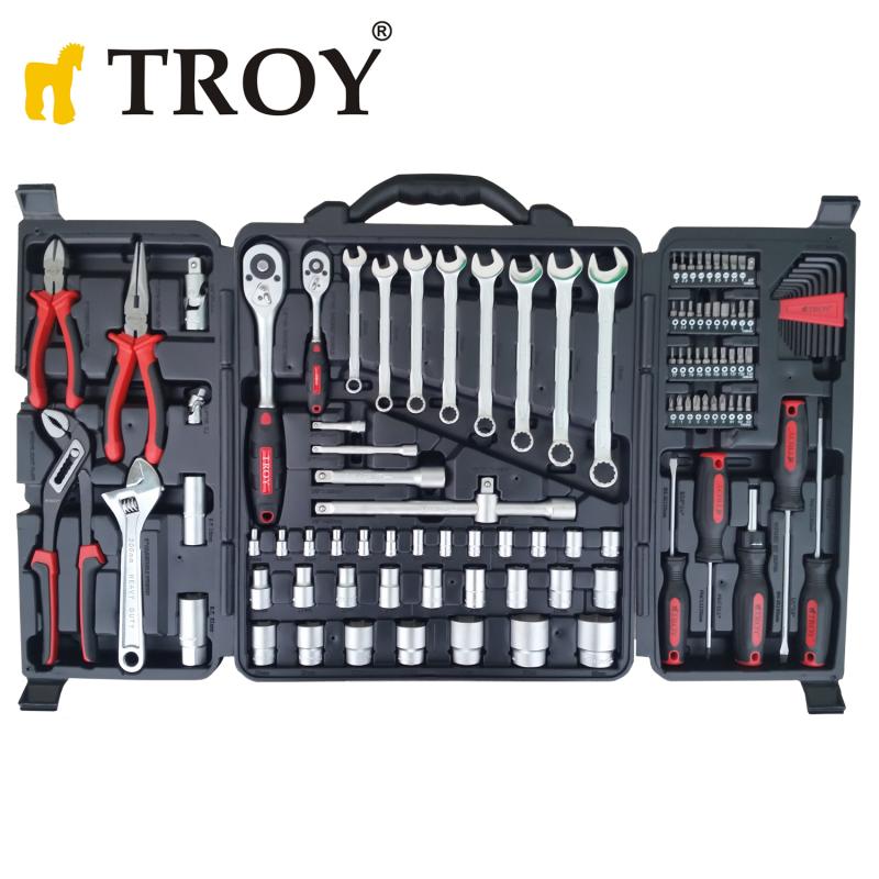 Професионален комплект ръчни инструменти в куфар, 110 части / Troy 21910 /