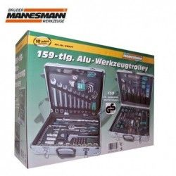 Mannesmann Tool Set in Alu-Trolley 159 Pieces / Mannesmann 29077 / 1