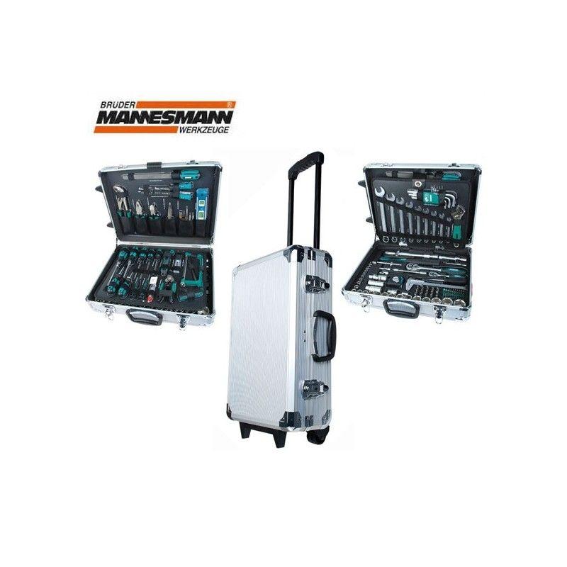Комплект инструменти в алуминиев куфар 159 части / Mannesmann 29077 /