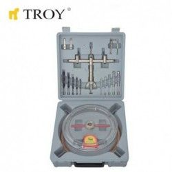 Adjustable Circle Hole Cutter Set Ø 40-200mm / Troy 27493 /