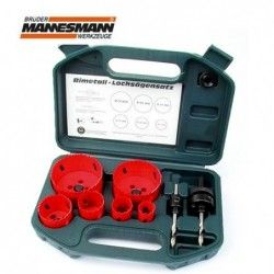 HSS Hole Saw Set 8 Pieces / Mannesmann 44100 /