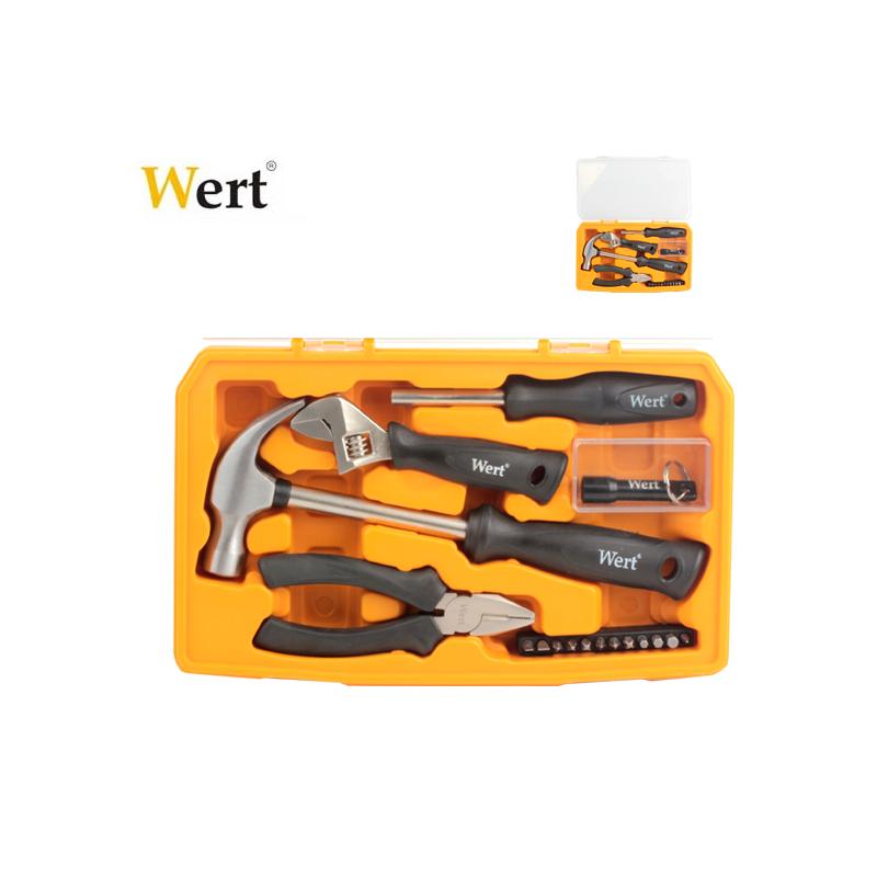 Комплект инструменти в пластмасово куфарче, 17 части / Wert 2191 /
