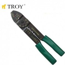 Клещи за кабелни обувки и оголване на кабели 200 мм / TROY 24006 /