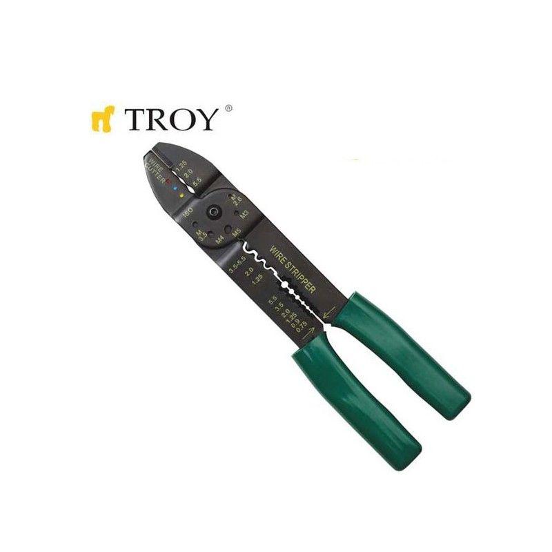 TROY 24006 Kablo Sıyırma-Pabuç Sıkma 200mm