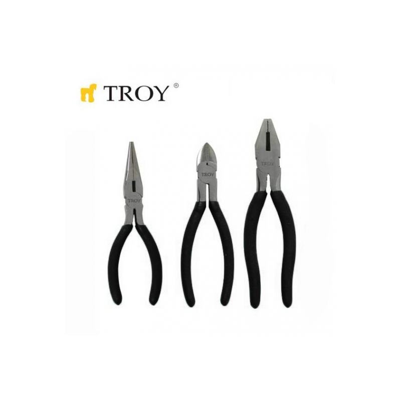 Plier Set 3 pcs. / TROY 21060 /