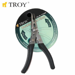 Dual Head Combination+Long Nose Plier  / TROY 21090 /