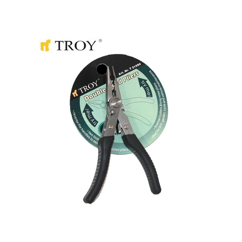 Dual Head Combination+Long Nose Plier  / TROY 21090 /