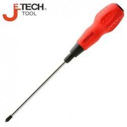 Кръстата отвертка Ph0 200mm дължина, с мека дръжка  / JeTECH ST4-200#0 /