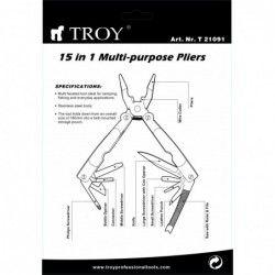 Комплект джобни инструменти 15 в 1  / TROY 21091 / 2