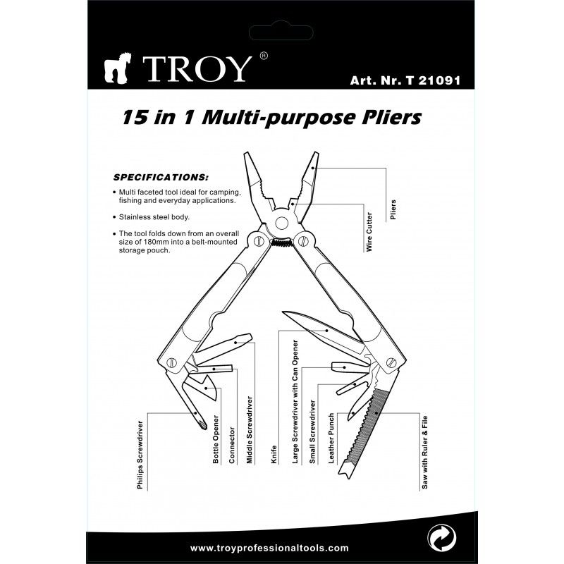 Multi Tool 15 in 1  / TROY 21091 / TROY - 2