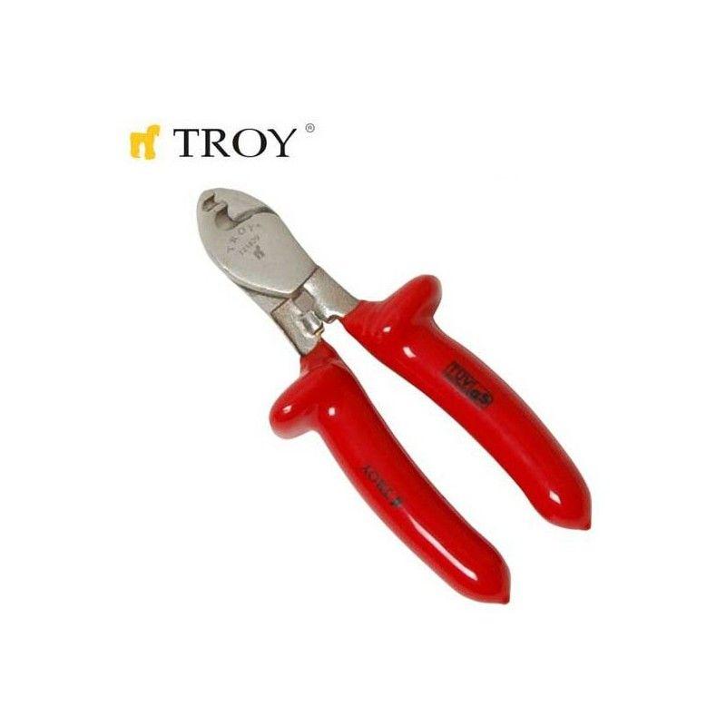 TROY 21829 İzoleli Kablo Kesme Makası 160mm