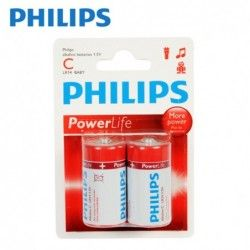 Batteries Philips C 2pcs.