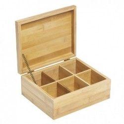 Бамбукова кутия за чай със 6 секции