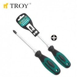 Screwdriver - Philips PH1x75mm  / TROY 22104 / 1