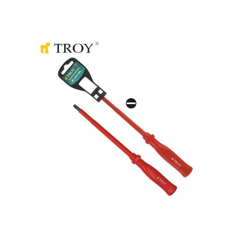 Electrician's Screwdriver - Slotted 3,0x 75mm  / TROY 22120 /