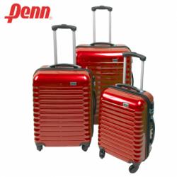 Куфар PVC с колелца и телескопична дръжка, червен цвят