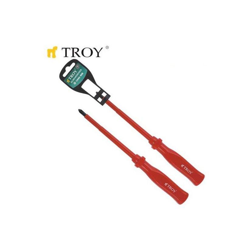 Професионални кръстати изолирани отвертки PH0x 75мм / TROY 22124 /